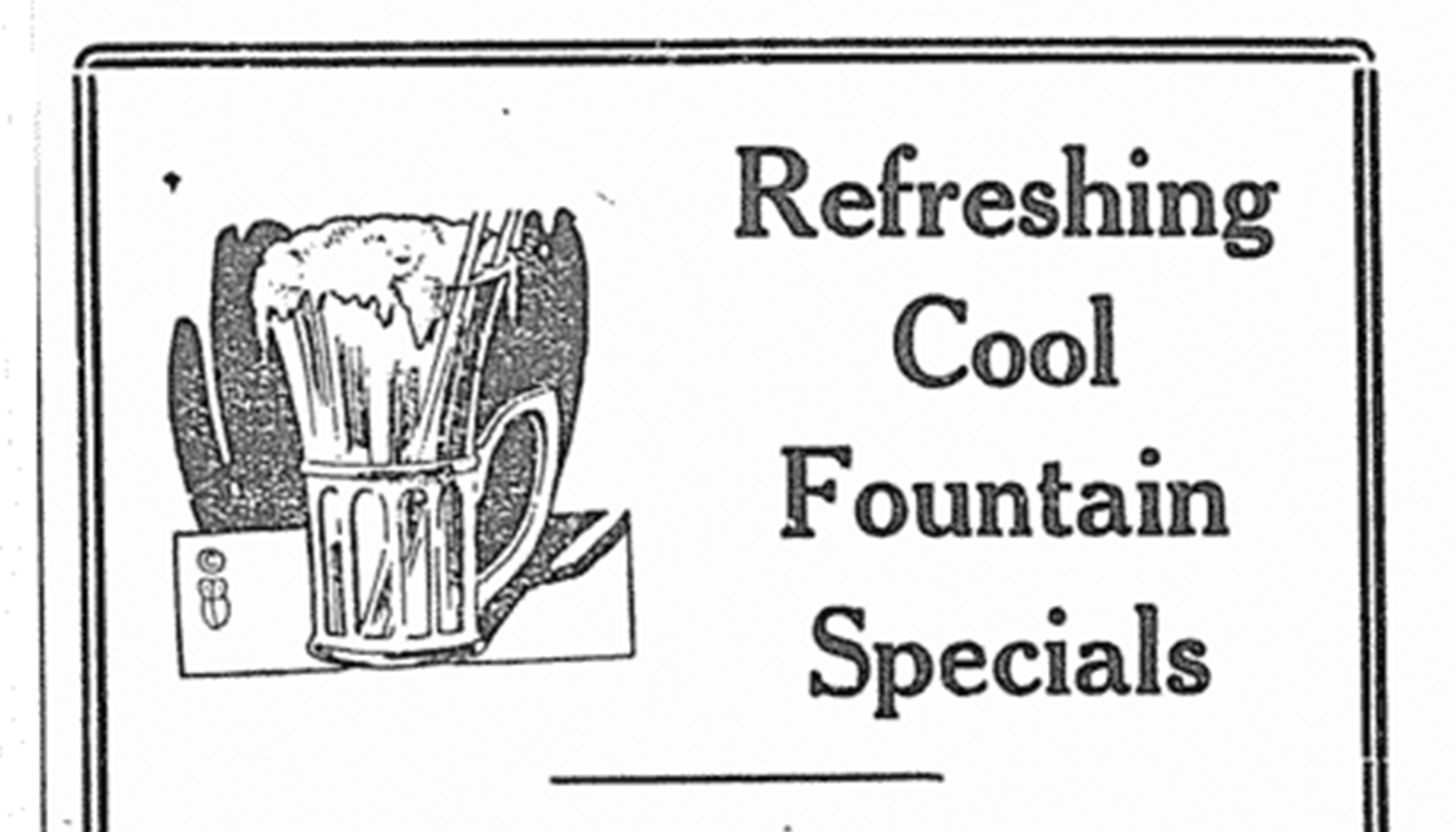 Advertisement for Commercial Café in Red Deer news, Dec. 27, 1922
