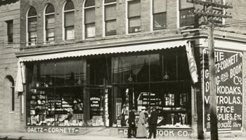 Photo of Gaetz Cornett Drug and Book Company circa 1910-1920