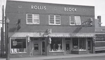 Photo of Rollis Block building circa 1953