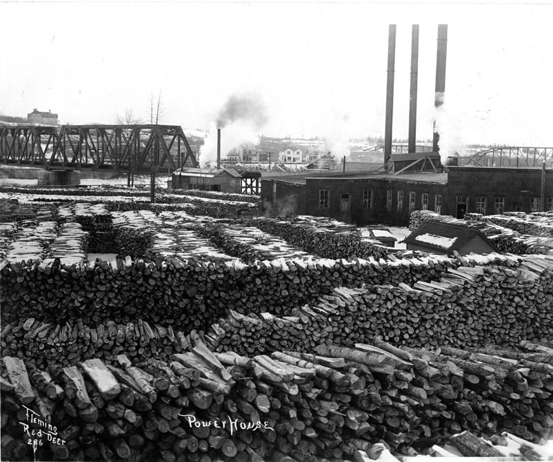 The number one power plant with the C.P.R Bridge in the background estimated in 1911.