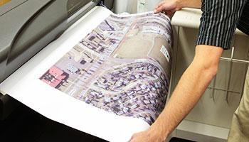 A large map printing