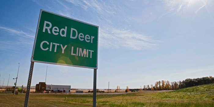 picture of Red Deer City Limit sign