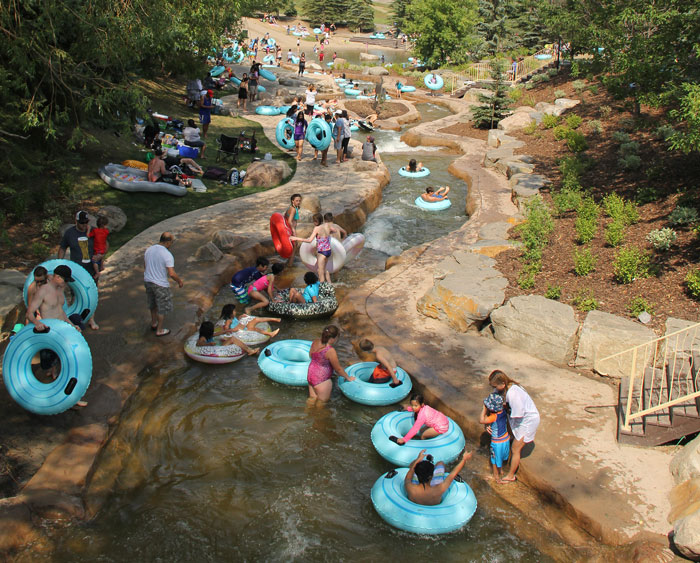 Photo of residents tubing at Discovery Canyon