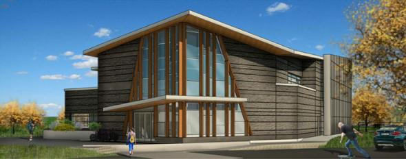 Artist's rendering of Northside Community Centre facade