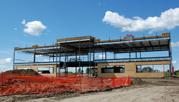 Photo of commercial building under construction