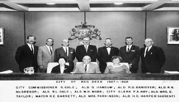 A photo of Red Deer City Council in 1967-1968