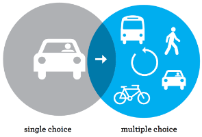 Single mobility choice to multiple choice