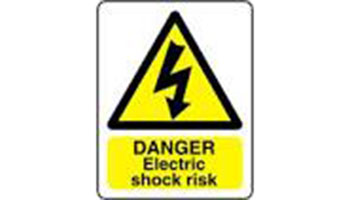 Danger: Electric Shock sign