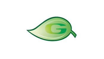 This symbol represents the Green Team. It is a G inside a green leaf.