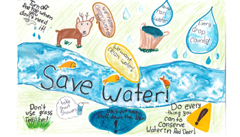 Image of save water poster