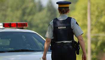 Female RCMP office at traffic stop