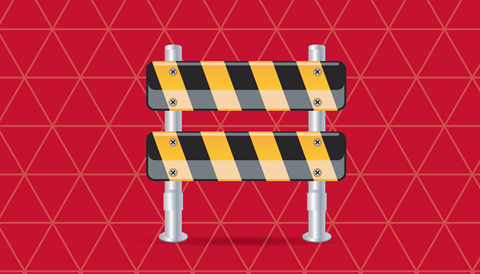Construction Season Barricade Tile Image