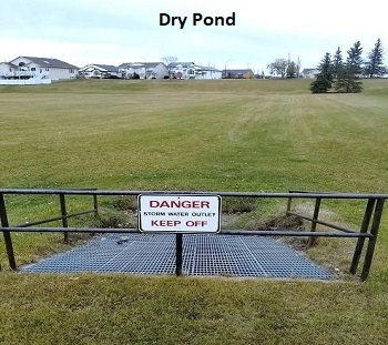 Dry stormwater pond