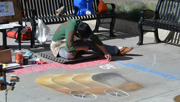photo of Alberta-Culture-Days-Chalk-Artist